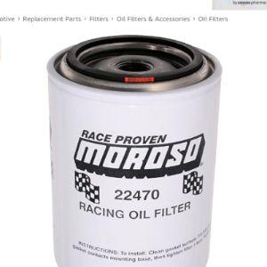 Moroso Oil Filter Micron Rating