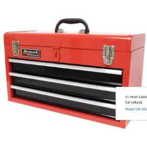 Homak 3 Drawer Steel Tool Box