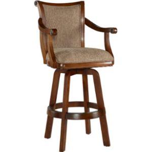 Powell Furniture Cherry Swivel Bar Stool
