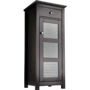 Elegant Home Fashions Corner Bathroom Towel Cabinet