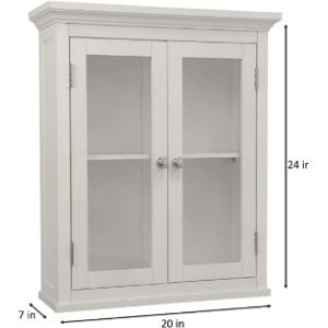 Elegant Home Fashions Glass Bath Cabinet