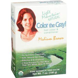Light Mountain Henna Hair Dye Cover Gray