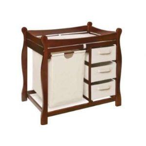 Badger Basket Oak Baby Changing Table