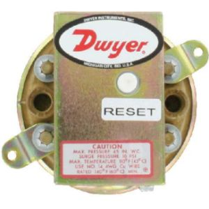 Dwyer Manual Reset Low Pressure Switch