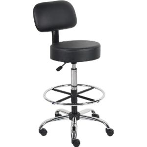 Boss Office Products Adjustable Office Stool