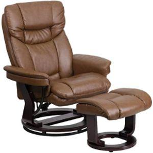 Flash Furniture Swivel Chair Footstool