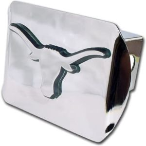 Chrome Emblem Longhorn Trailer Hitch Cover