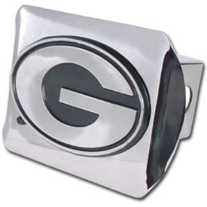 Chrome Emblem Georgia Trailer Hitch Cover
