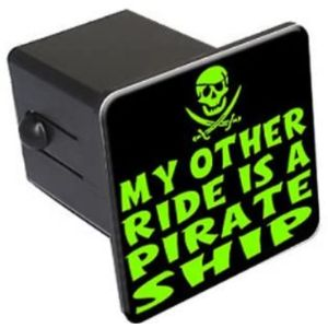 Graphics And More Pirate Trailer Hitch Cover
