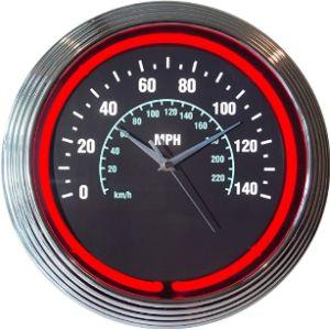 Neonetics Speedometer Wall Clock