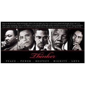 Poster Revolution Nelson Mandela Martin Luther King