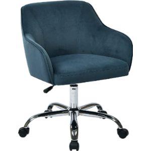Osp Home Furnishings Velvet Rolling Chair