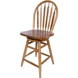 Aw Furniture Wood Swivel Stool