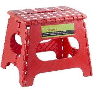 Greenco Wood Step Stool Ladder Chair