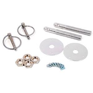 Hot Rod Chrome Aluminum Hood Pin Kit