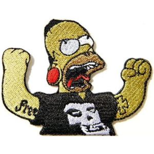 Large Husky Music Patches Metal Music Band