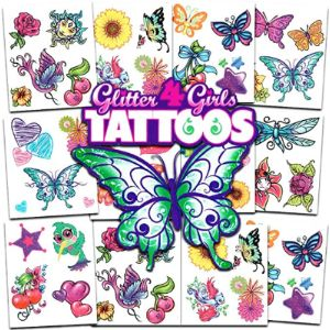 Crenstone Glitter Temporary Tattoo Party Kit