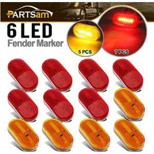 Partsam Lens Trailer Marker Light