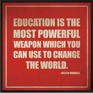 Culturenik Nelson Mandela Education Quote