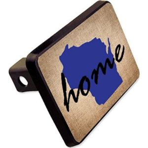 Cheapyardsigns Wisconsin Trailer Hitch Cover