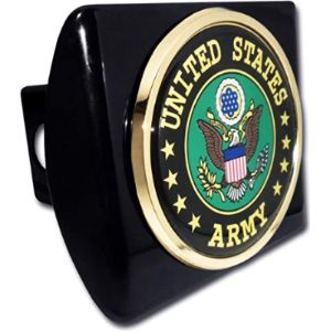 Elektroplate Army Trailer Hitch Cover