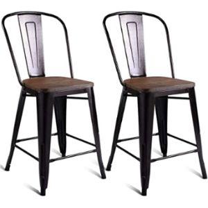 Costway S Metal Stool Chair