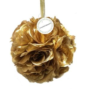 Lolasaturdays Gold Flower Ball