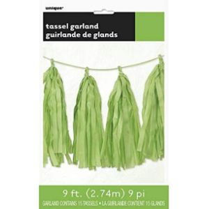 Unique Industries Green Tassel Garland