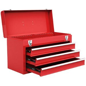 Goplus 3 Drawer Steel Tool Box