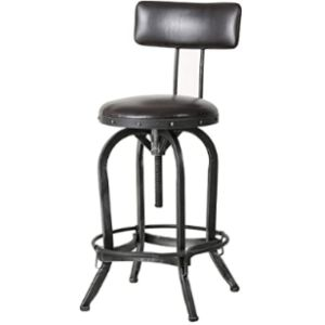 Christopher Knight Home Stool Leather Seat