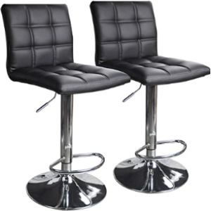 Leopard Bar Stool Chair Set