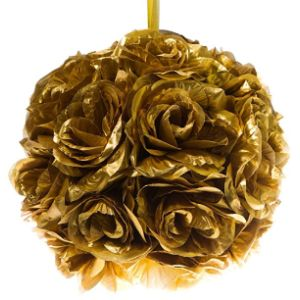 Century Novelty Gold Flower Ball