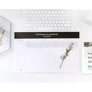 Second Mansion Undated Desk Pad Calendar