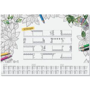 Sigel Coloring Desk Pad Calendar