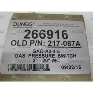 Dungs Low Pressure Gas Switch