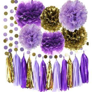 Qian'S Party Purple Tassel Garland