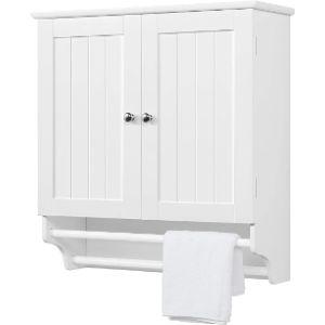 Yaheetech White Towel Cabinet