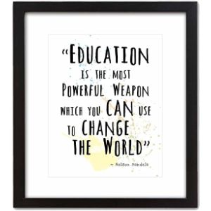 Artdash Nelson Mandela Education Quote
