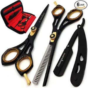 Saaqaans Gold Barber Scissors