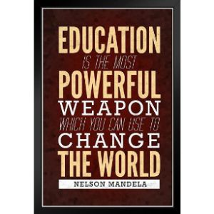 Poster Foundry Nelson Mandela Education Quote