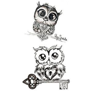 Sanerlian Design Owl Tattoo