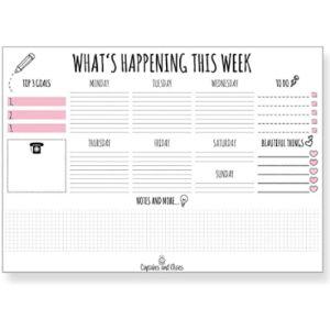 Cupcakes & Kisses Cute Desk Pad Calendar