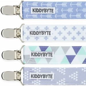 Kiddybyte Baby Bib With Pacifier Holder Patterns