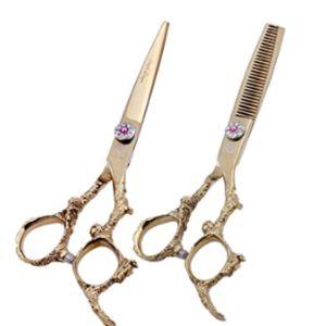 Purple Dragon Gold Barber Scissors