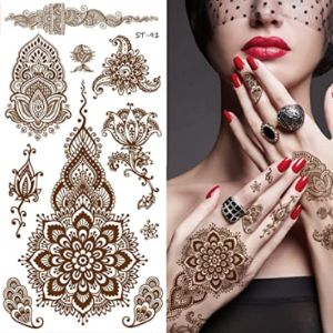Supperb Henna Tattoo Sticker
