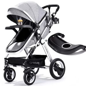 Lightweight Stroller With Snack Tray