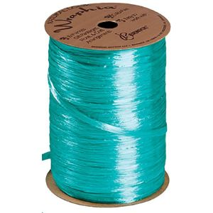 Sswbasics Teal Raffia Ribbon