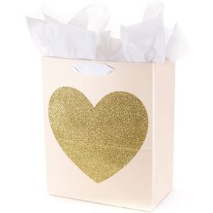 Hallmark Large Gold Glitter Heart