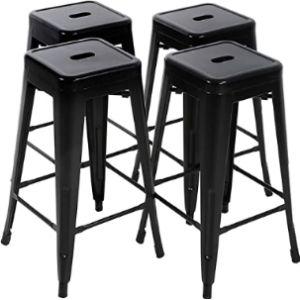 Fdw Metal Stool Chair