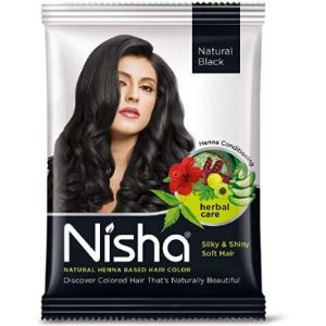 Nisha Henna Hair Color Black